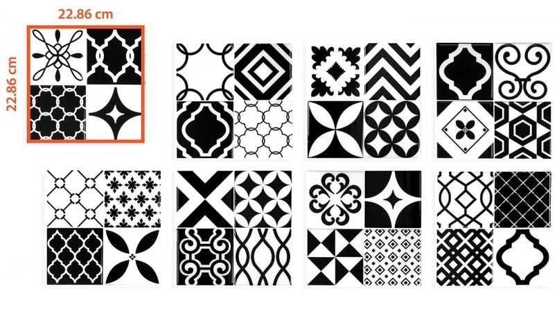Carrelage adhésif Smart Tiles modèle vintage Bilbao