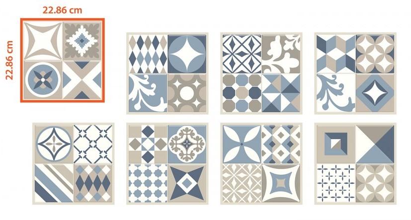 Carrelage adhésif Smart Tiles modèle vintage Gaudi
