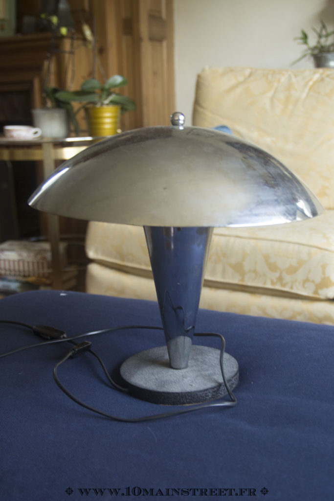 Lampe champignon en chrome des années 50