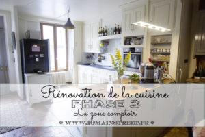 Rénovation de la cuisine, phase 3 : la zone comptoir