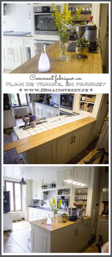 Fabriquer un plan de travail de cuisine en parquet de bambou | www.10mainstreet.fr