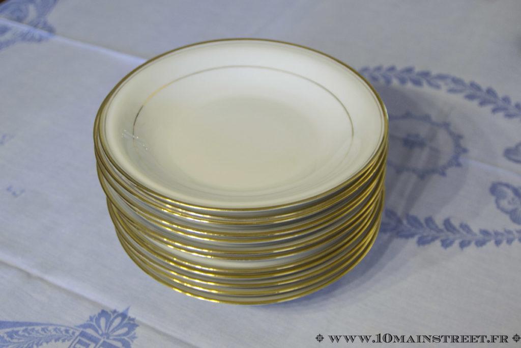 Assiettes creuses en porcelaine de Limoges