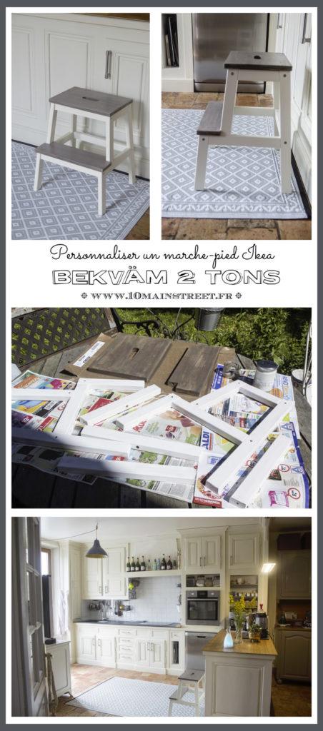Personnaliser un marchepied Ikea Bekvam 2 tons | www.10mainstreet.fr