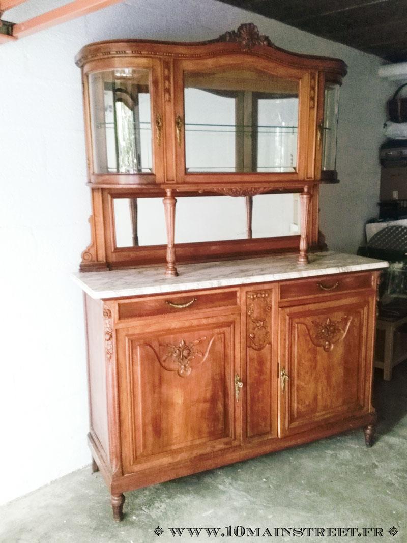 Relooking du vaisselier des ann es 1920 pour la salle manger for Meuble ancien du quebec