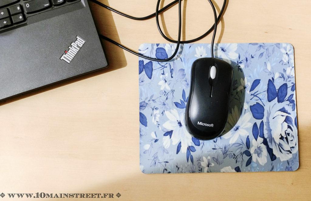 Tapis de souris à fleurs