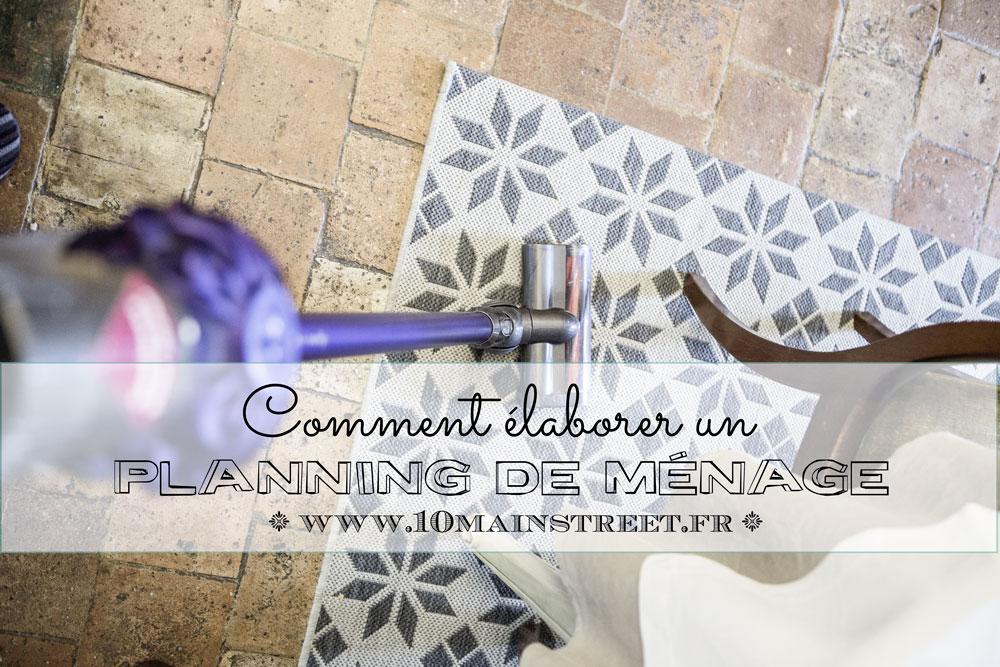 Elaborer un planning de ménage
