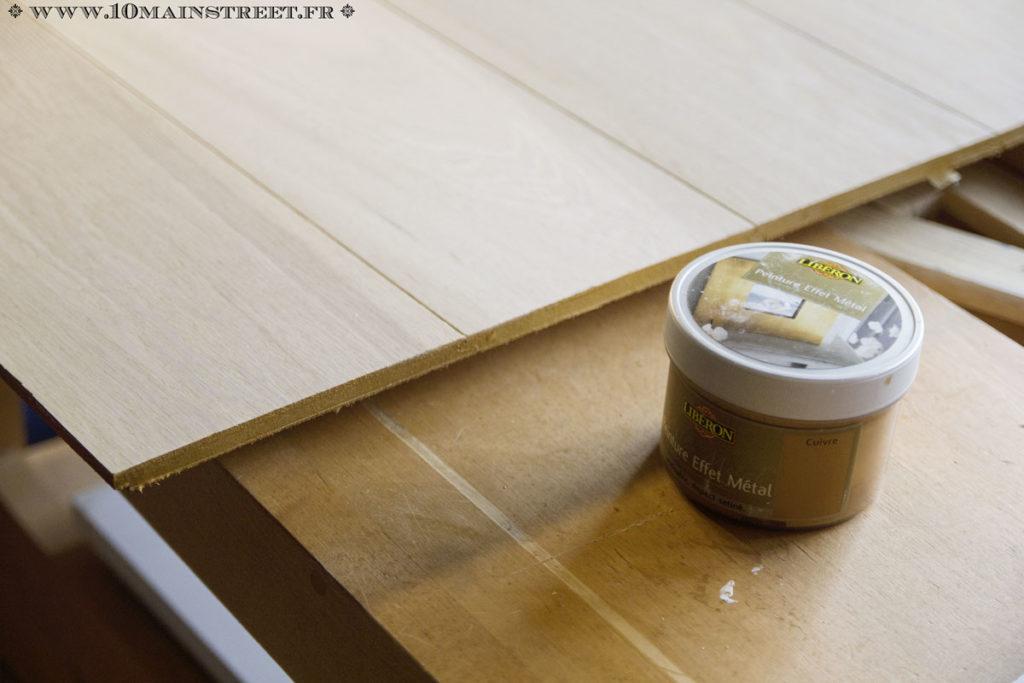 Peinture de la tranche avec la peinture Libéron cuivre