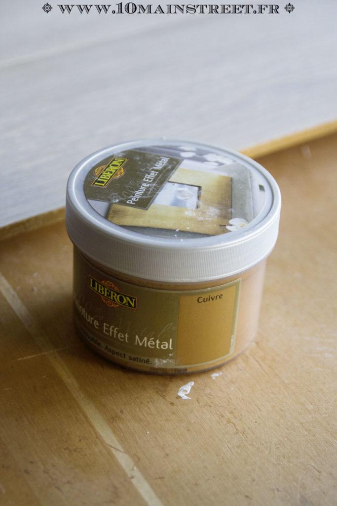 Peinture Libéron effet cuivre