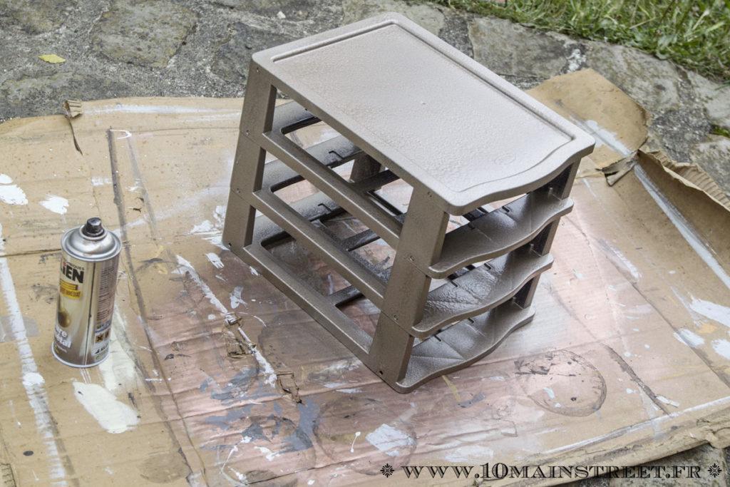 Structure passée au spray Julien platine martelé