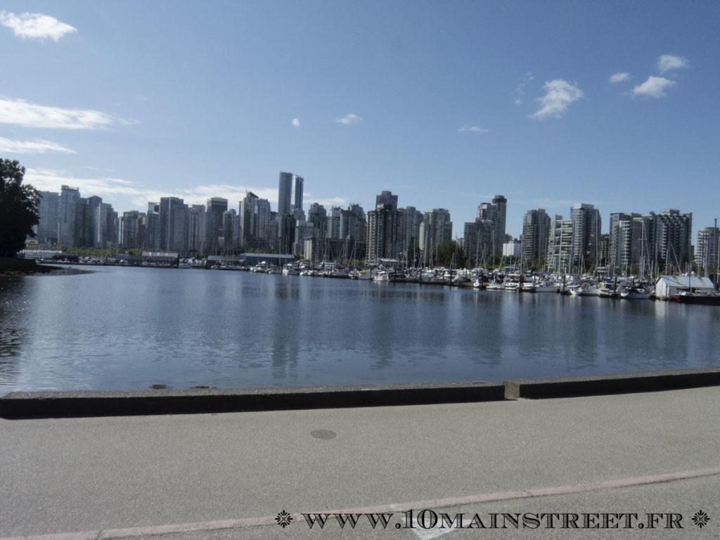 Downtown Vancouver depuis le Stanley Park