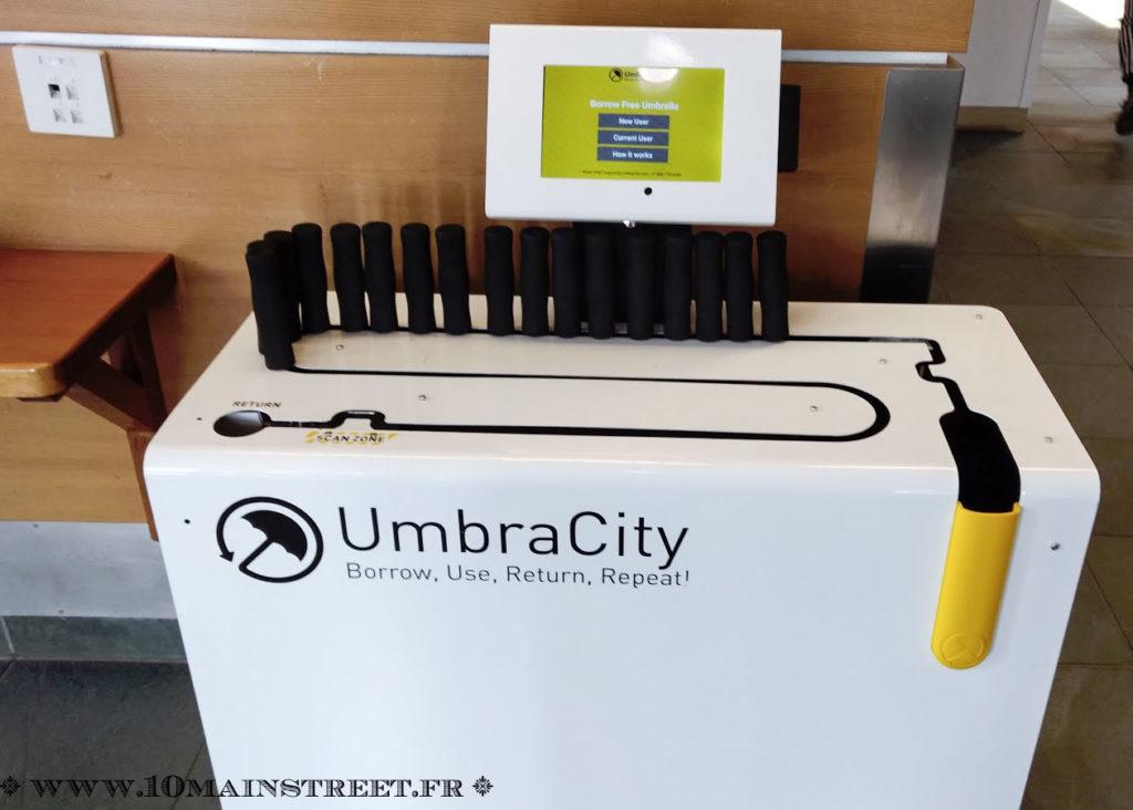 Distributeurs à parapluies à l'UBC