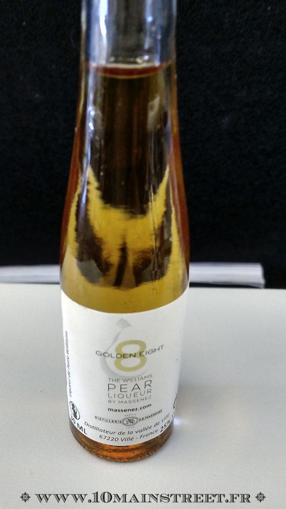 Liqueur de poire servie sur les vols Air France long courrier