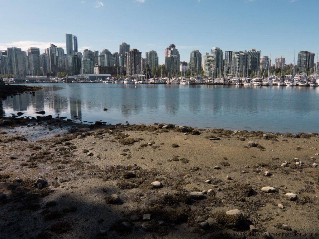 Vue sur Vancouver depuis le Stanley Park