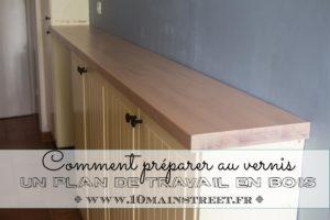 Comment préparer au verns un plan de travail en bois pour la cuisine