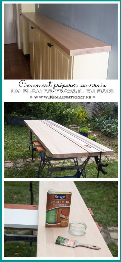 Comment préparer au vernis un plan de travail en bois