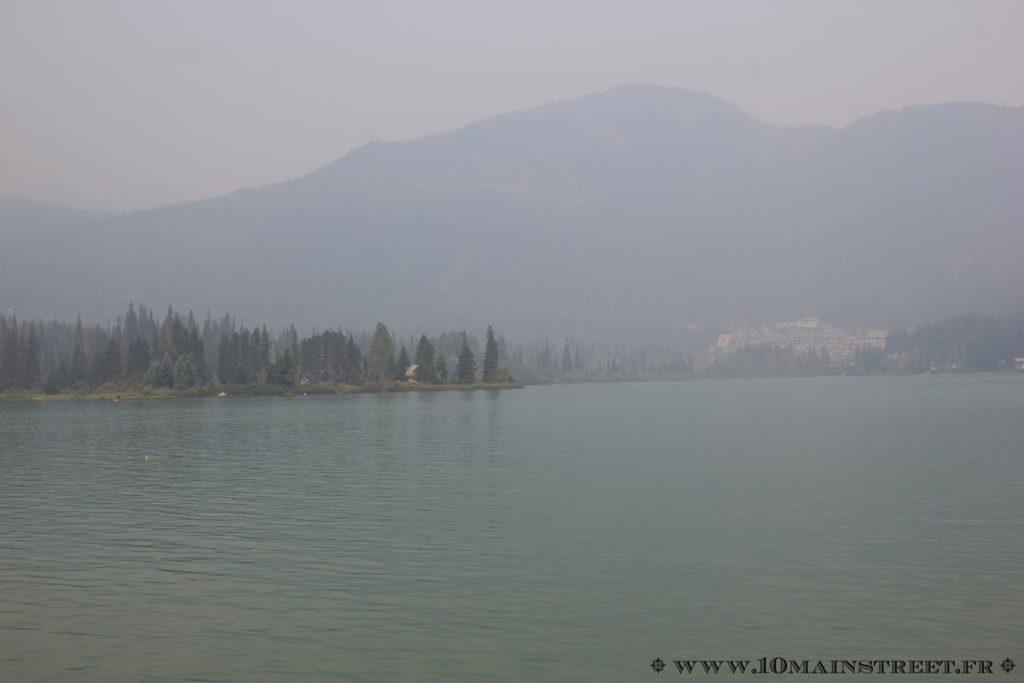 Brume sur Green Lake