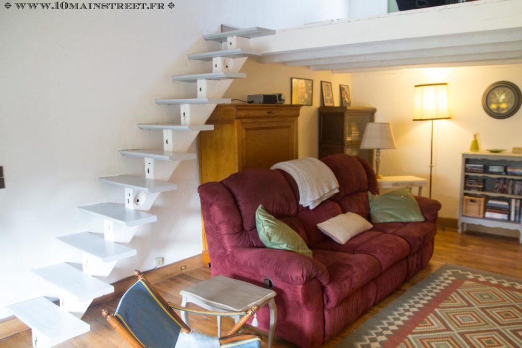 Le vieil escalier métamorphosé en situation