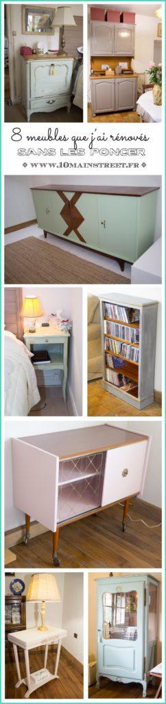 8 meubles que j'ai rénovés sans les poncer
