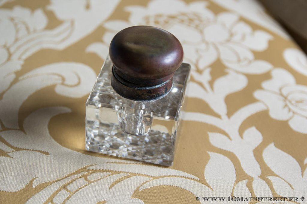 Encrier en cristal de Baccarat