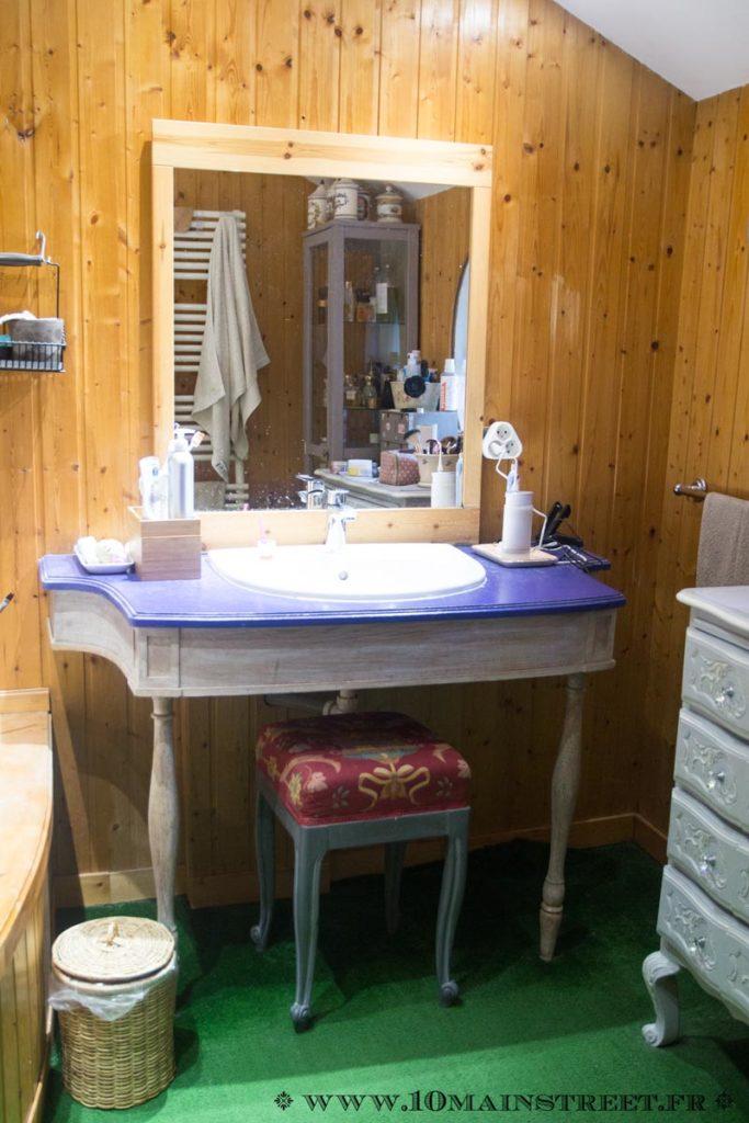 Meuble vasque en bois
