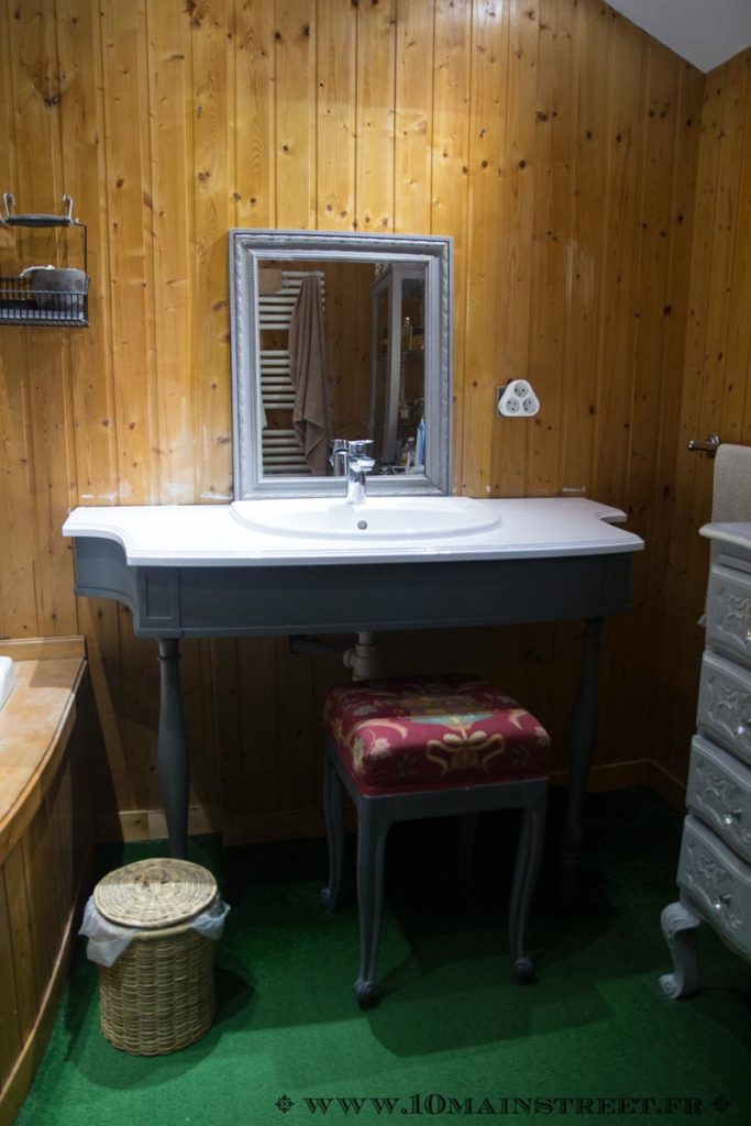 Le meuble vasque rénové
