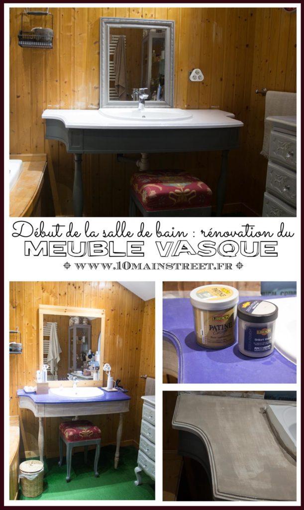 Début de la salle de bain : rénovation du meuble vasque