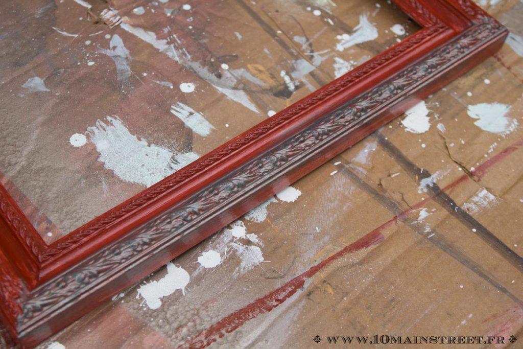 Application de la peinture métallique