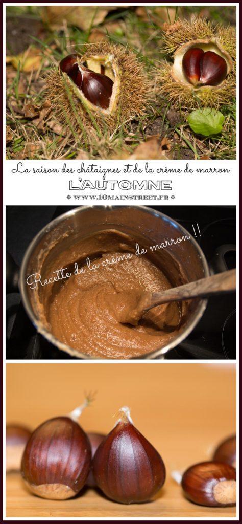 L'automne, la saison des châtaignes et de la crème de marron