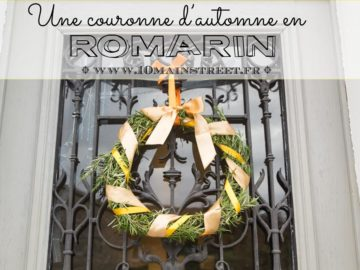 Une couronne d'automne en romarin