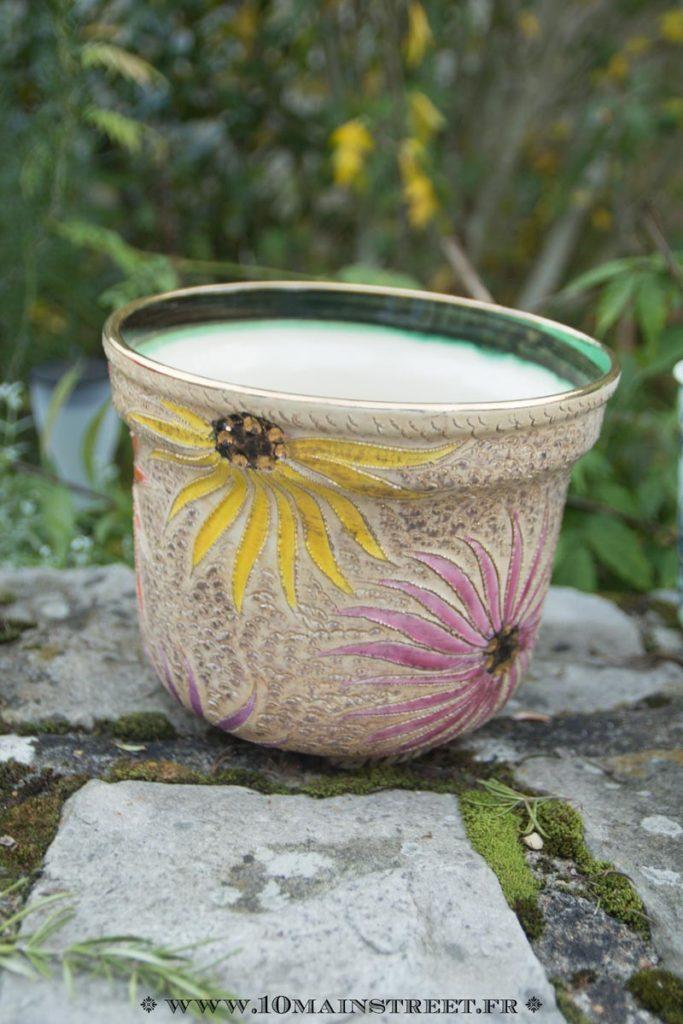 Cache-pot en céramique belge Becquet