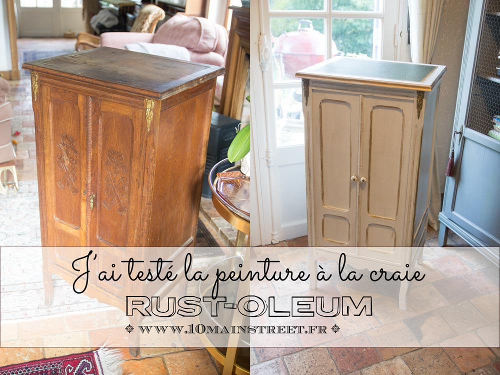 j 39 ai test la peinture la craie rust oleum et c 39 est bluffant. Black Bedroom Furniture Sets. Home Design Ideas