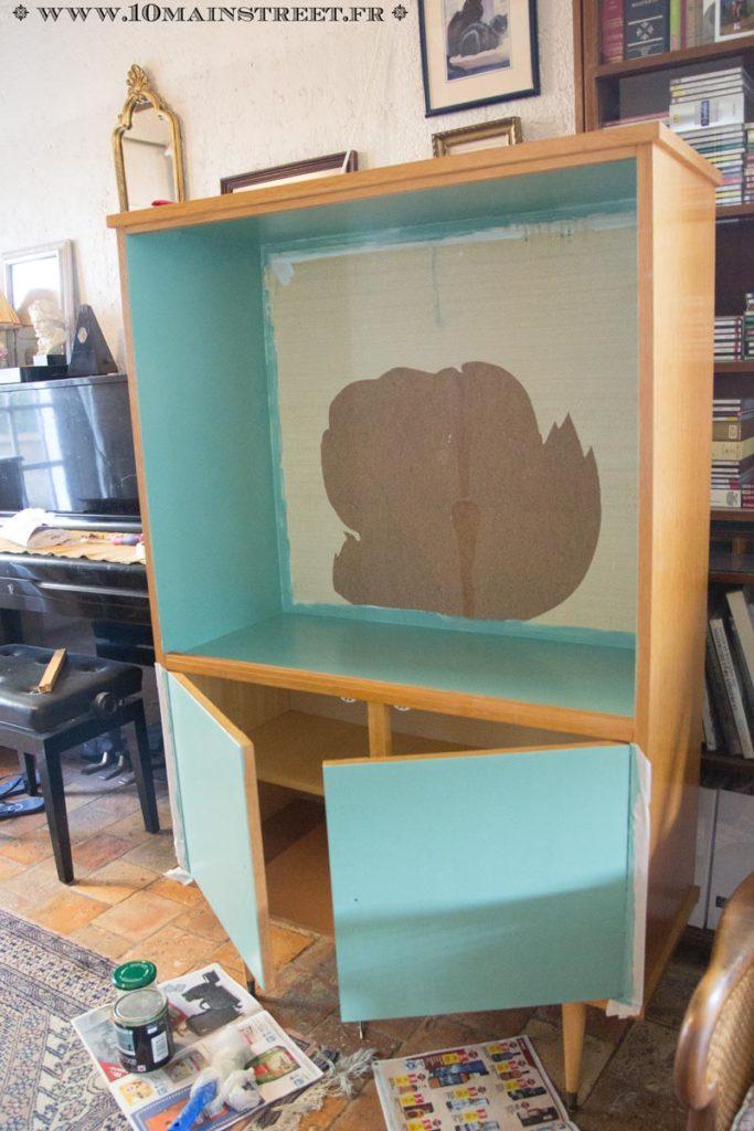 Peinture de l'intérieur et des portes en turquoise