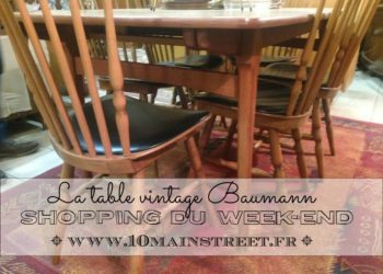 Shopping du week-end : la table Baumann