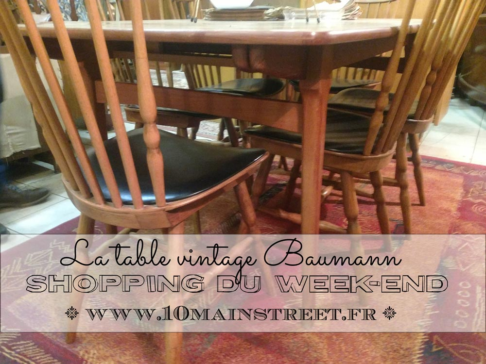Shopping du week-end : la table Baumann