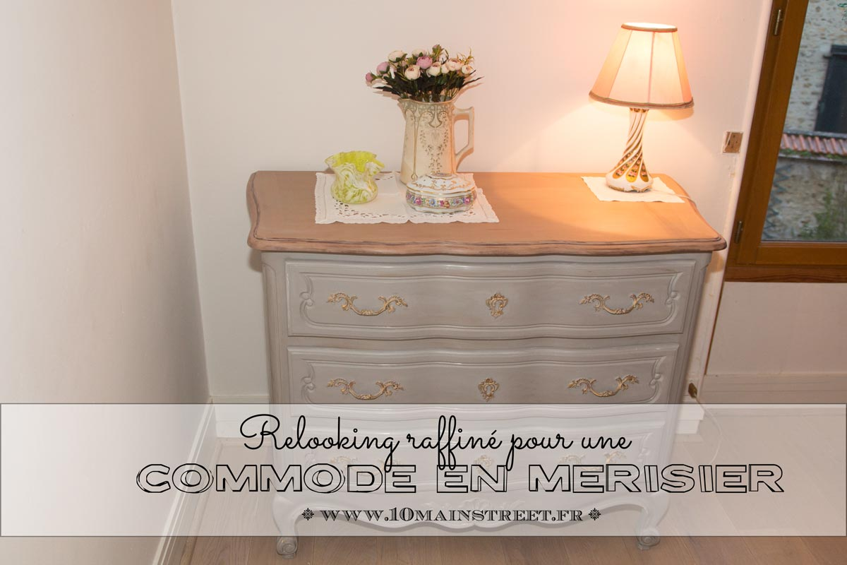 relooking raffin pour une commode en merisier verni des. Black Bedroom Furniture Sets. Home Design Ideas