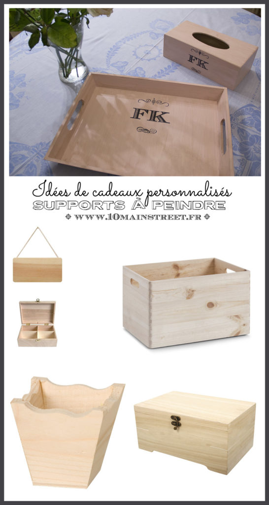 Idée de cadeaux personnalisés : supports à peindre