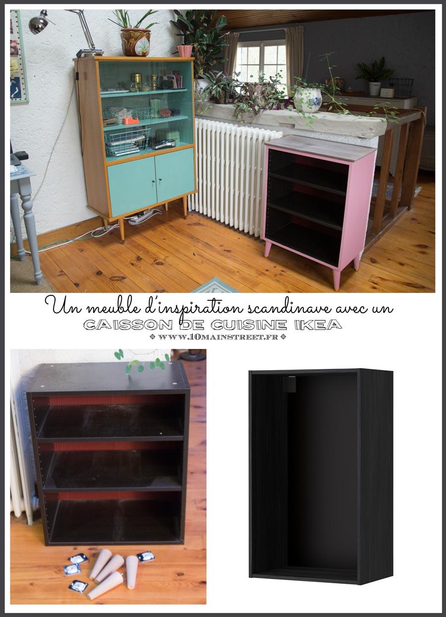 Un Meuble Scandinave Avec Un Caisson De Cuisine Ikea # Fabriquer Un Meuble Scandinave