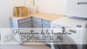 Rénovation de la buanderie : phase 2