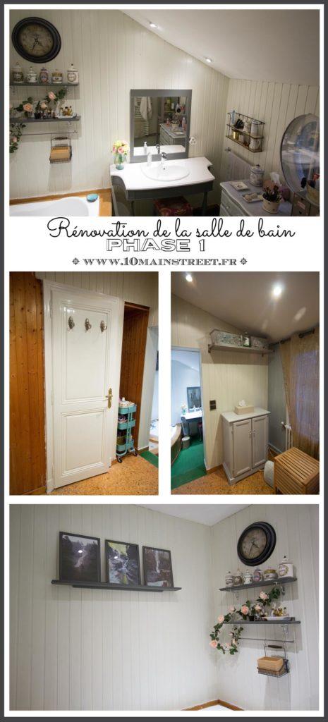 Rénovation de la salle de bain : phase 1 | peinture du lambris et décoration des murs