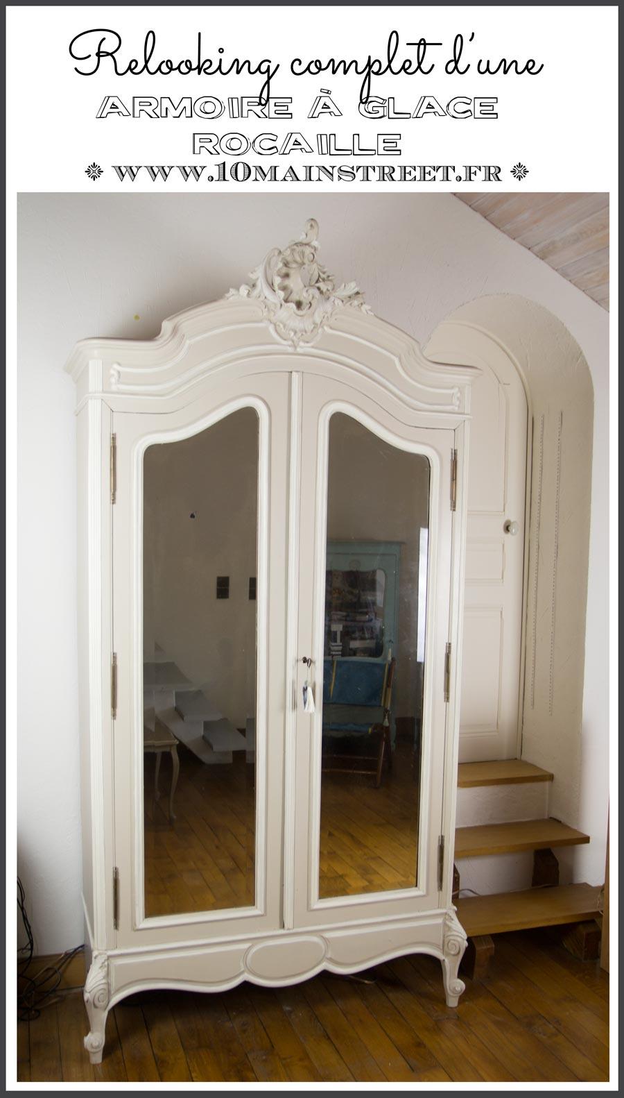 relooking de l 39 armoire glace rocaille pour le salon vid o. Black Bedroom Furniture Sets. Home Design Ideas