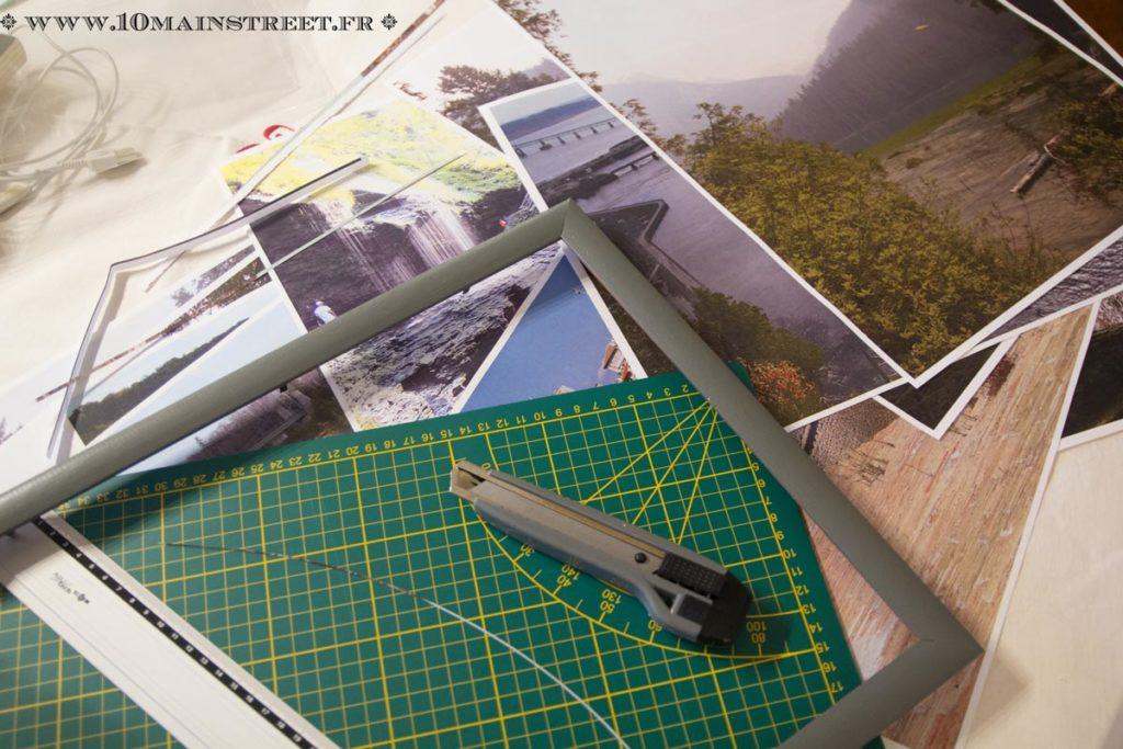 Installation des photos dans les cadres