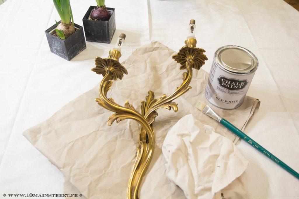 Matériel pour la patine à la Chalk paint Action