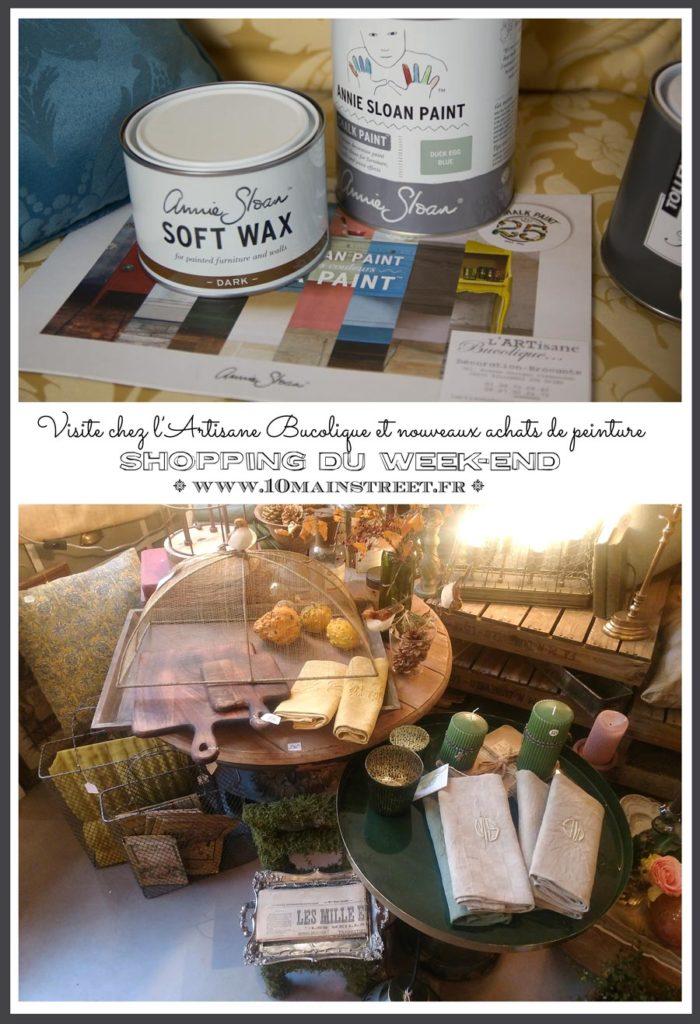Visite chez l'Artisane Bucolique et nouveaux achats de peinture, dont la Chalk Paint Annie Sloan : shopping du weekend