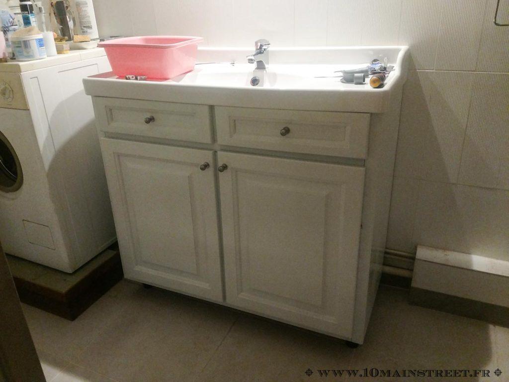 Meuble vasque installé
