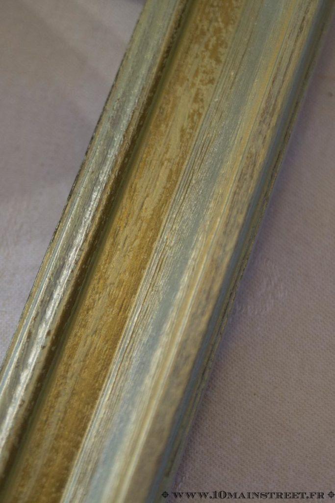 Effet métallique vieilli très naturel