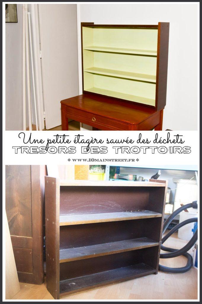 Une petite étagère sauvée des déchets | raviver un placage abîmé | trésors des trottoirs | #trashure