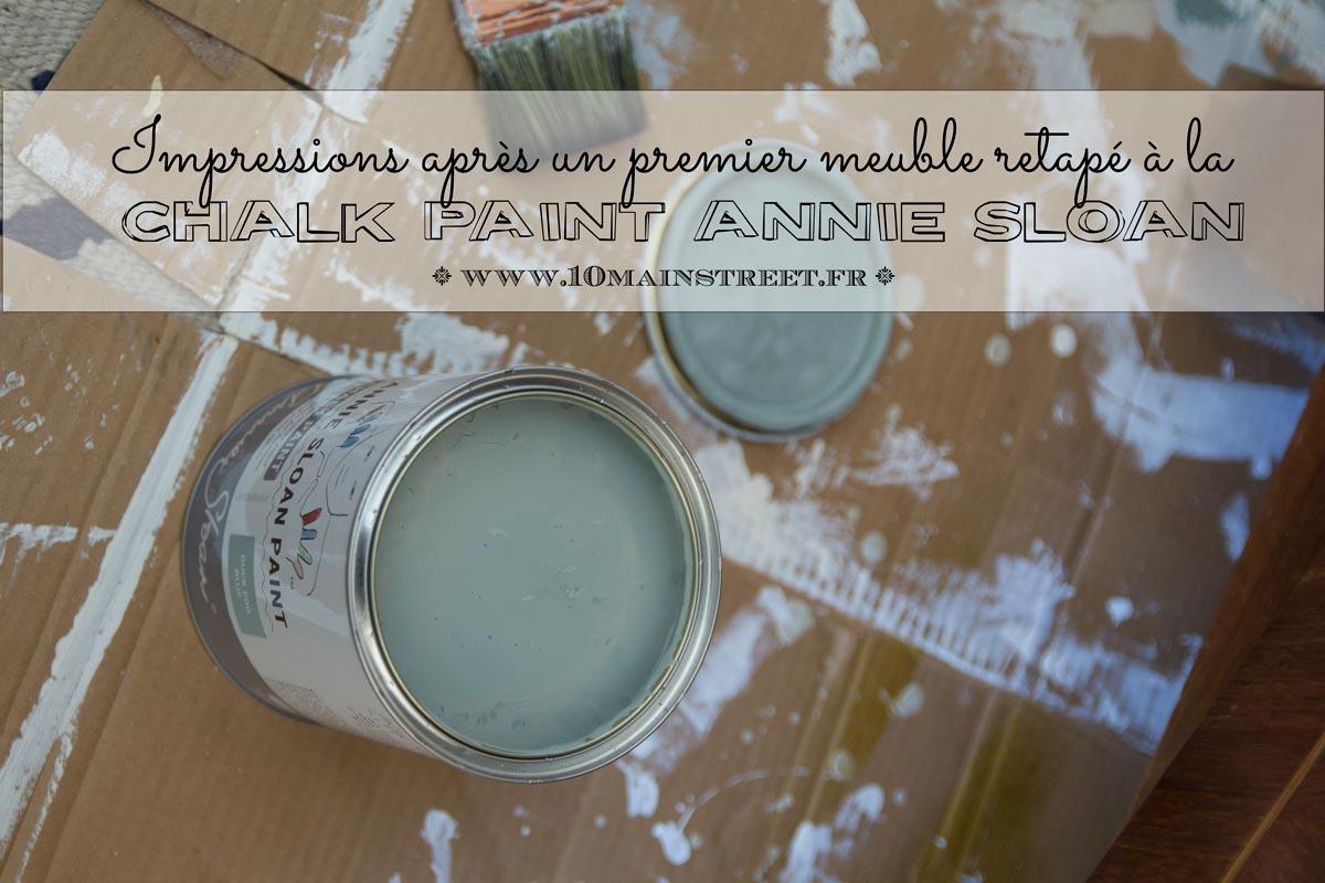 J'ai testé la Chalk paint Annie-Sloan : premières impressions après un meuble