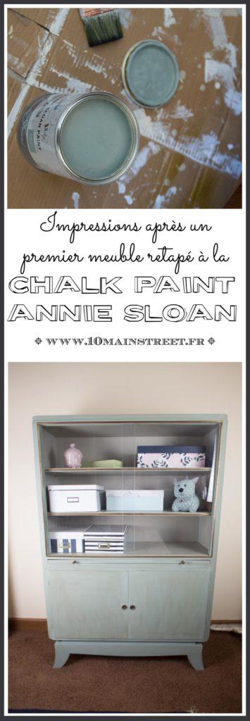J'ai testé la Chalk Paint Annie Sloan : impressions après un premier meuble #chalkpaint #anniesloan #anniesloanchalkpaint