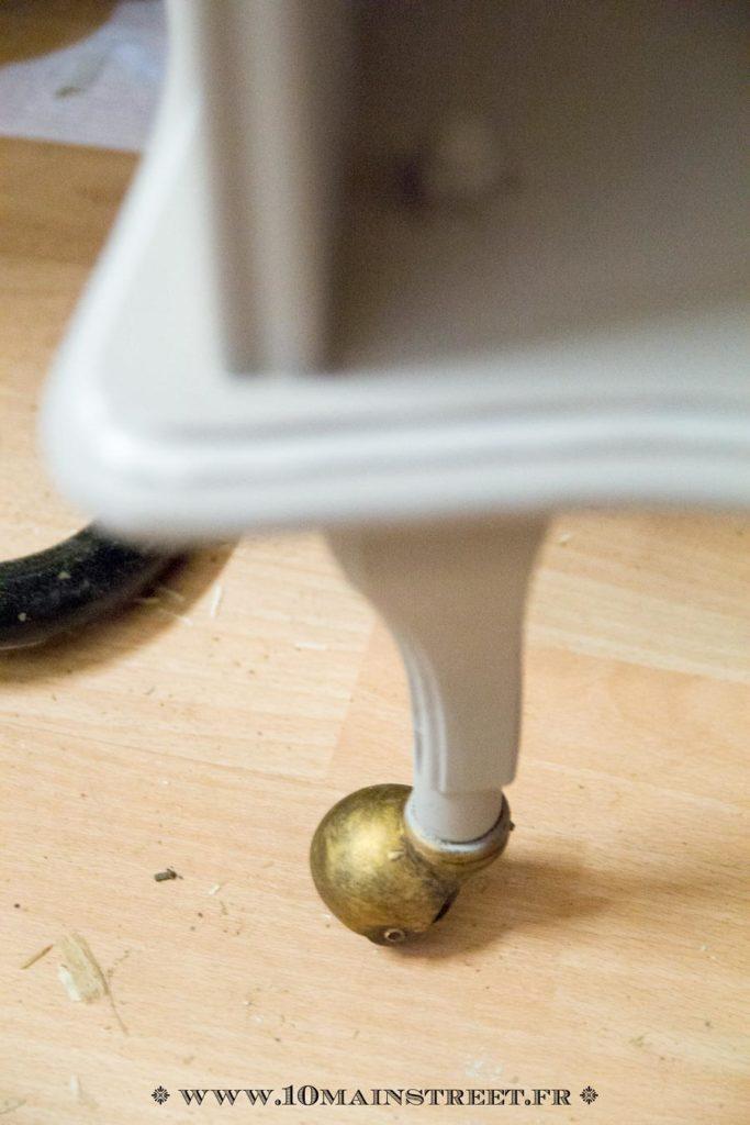 Roulette rehaussée de cire or riche