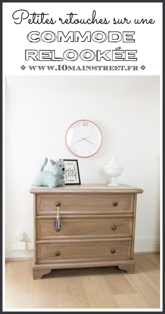 Petites retouches sur une commode relookée #relookingmeuble #furnitureflip #furnituremakeover #patine